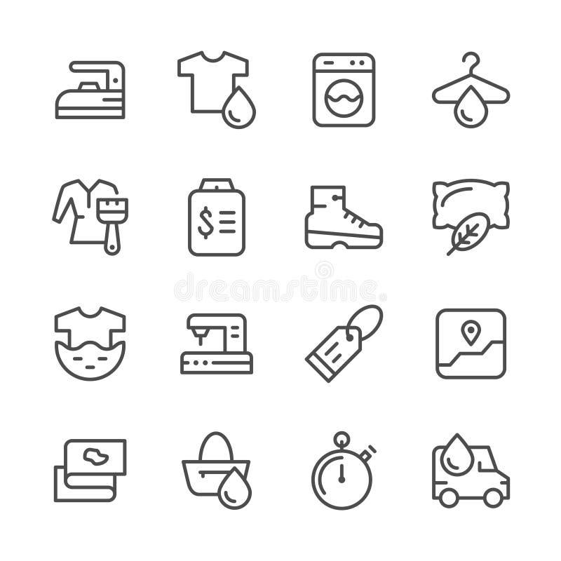 Set line icons of laundry royalty free illustration