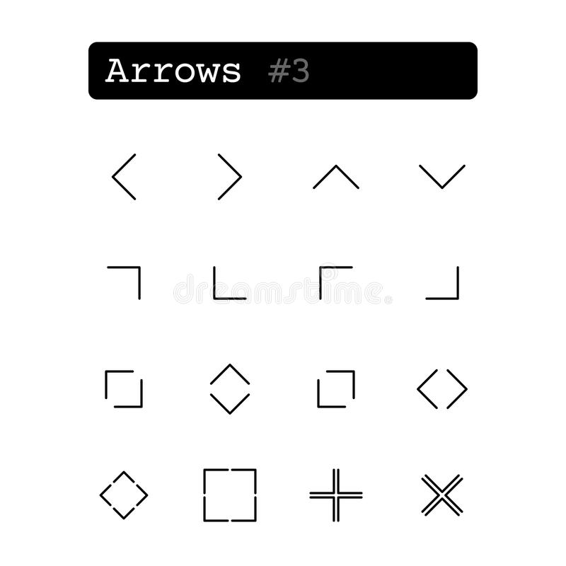 Set line icons. Vector. Arrow royalty free illustration
