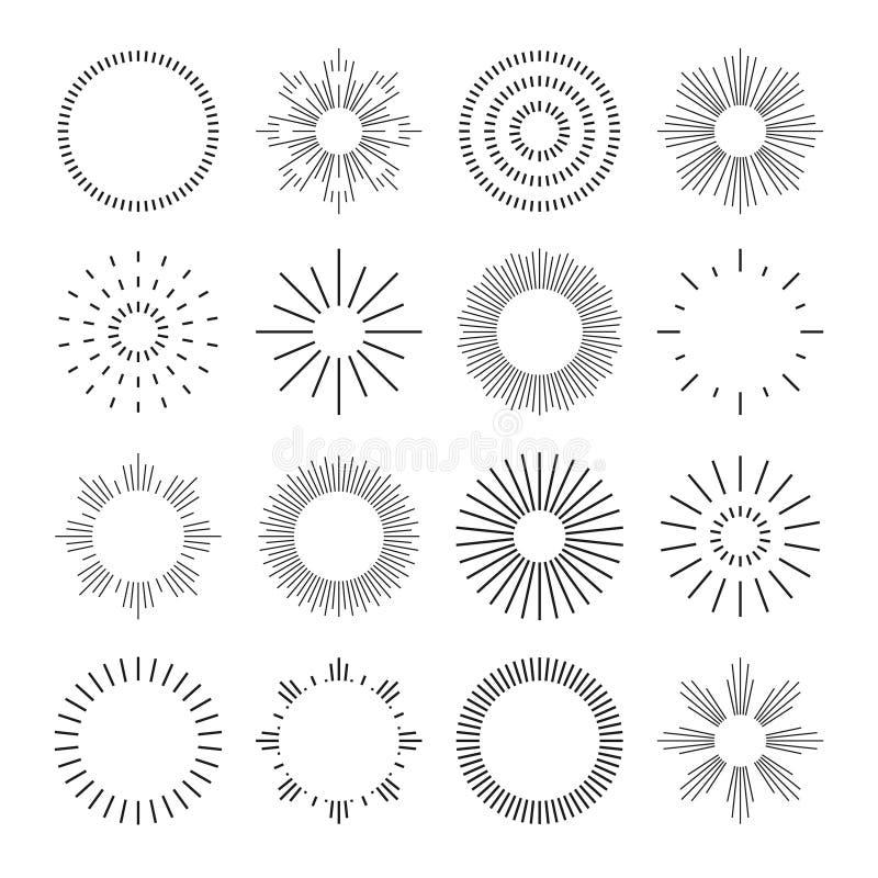 Set of linear badges royalty free illustration
