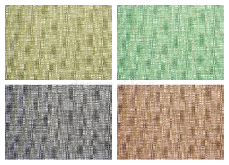 Set Of Linen Canvas Texture Stock Images