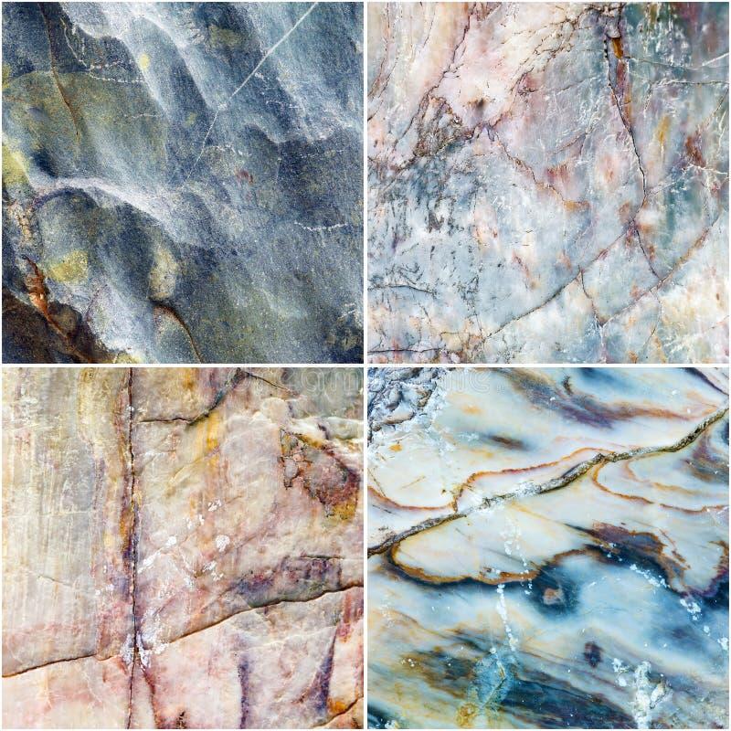 Set linia na krzywa marmuru kamienia tekstury tle obraz royalty free