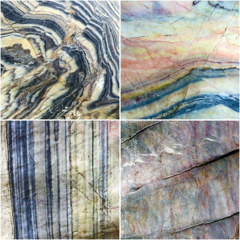 Set linia na krzywa marmuru kamienia tekstury tle zdjęcia stock