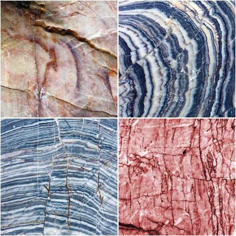 Set linia na krzywa marmuru kamienia tekstury tle obrazy stock