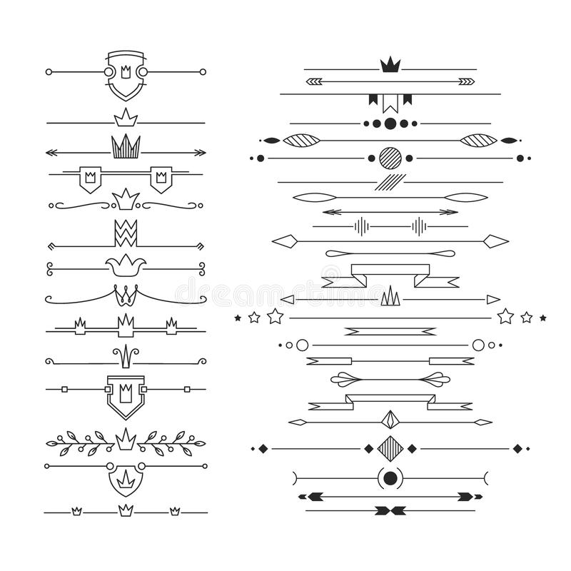 Set liniowy opróżnia, płascy chodnikowowie royalty ilustracja