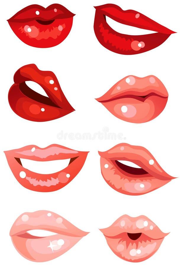 Set of lips stock illustration
