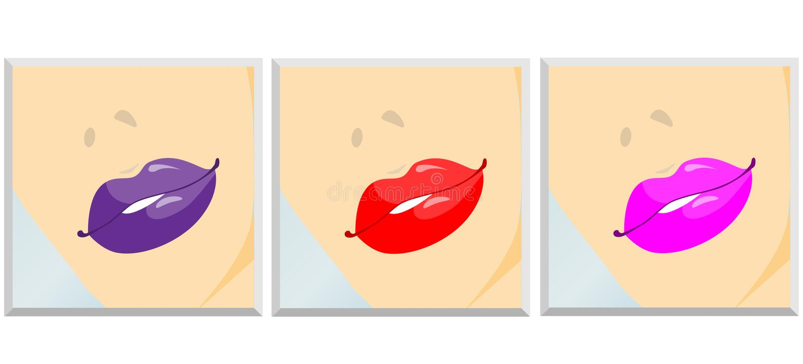 Set Of Lips Royalty Free Stock Photos