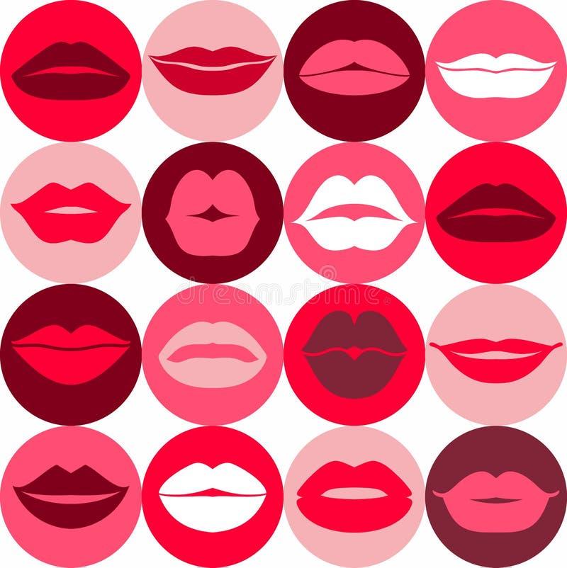 Set of lips. Flat icons. vector illustration