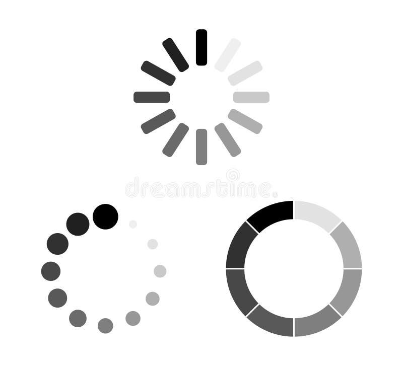 Set Loading icons. Load. load icons. White background. Loading vector icon. Eps10 vector illustration