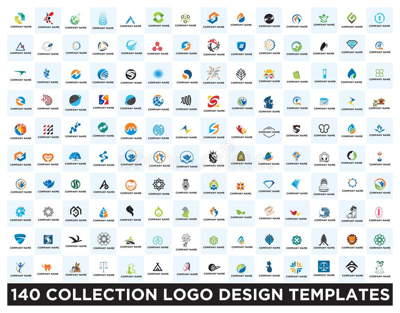Set of logo design templates. Vector Set of logo design templates royalty free illustration