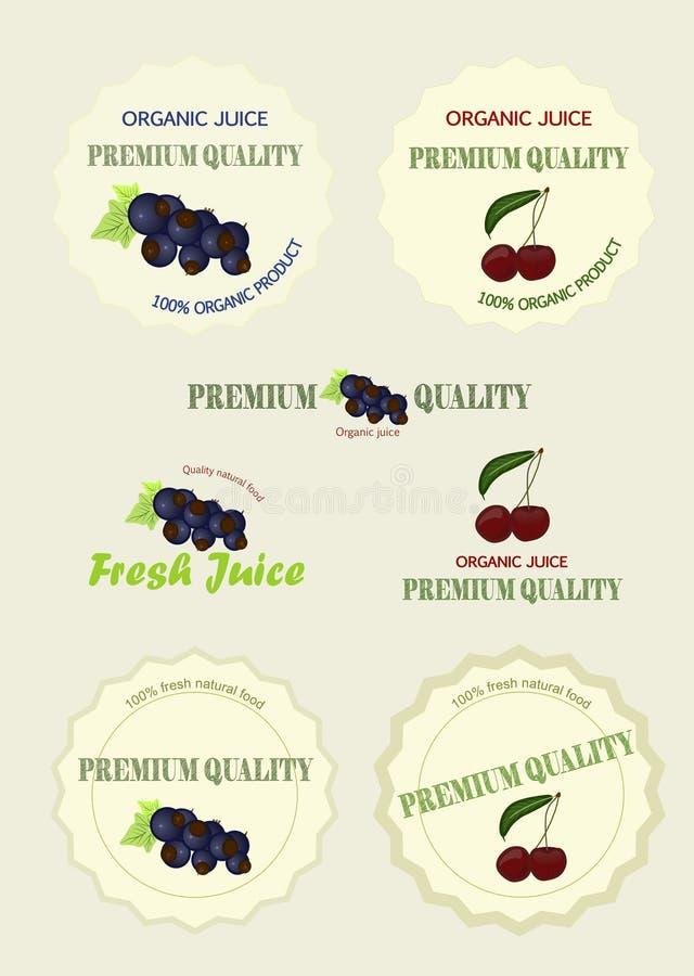 Set logo juice, vector vector illustration