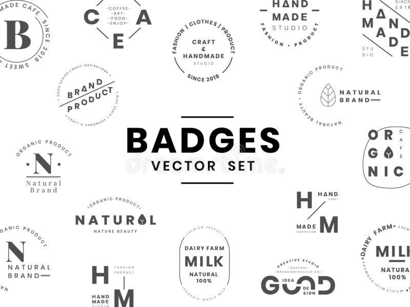 Set logo odznaki projekta wektory ilustracja wektor