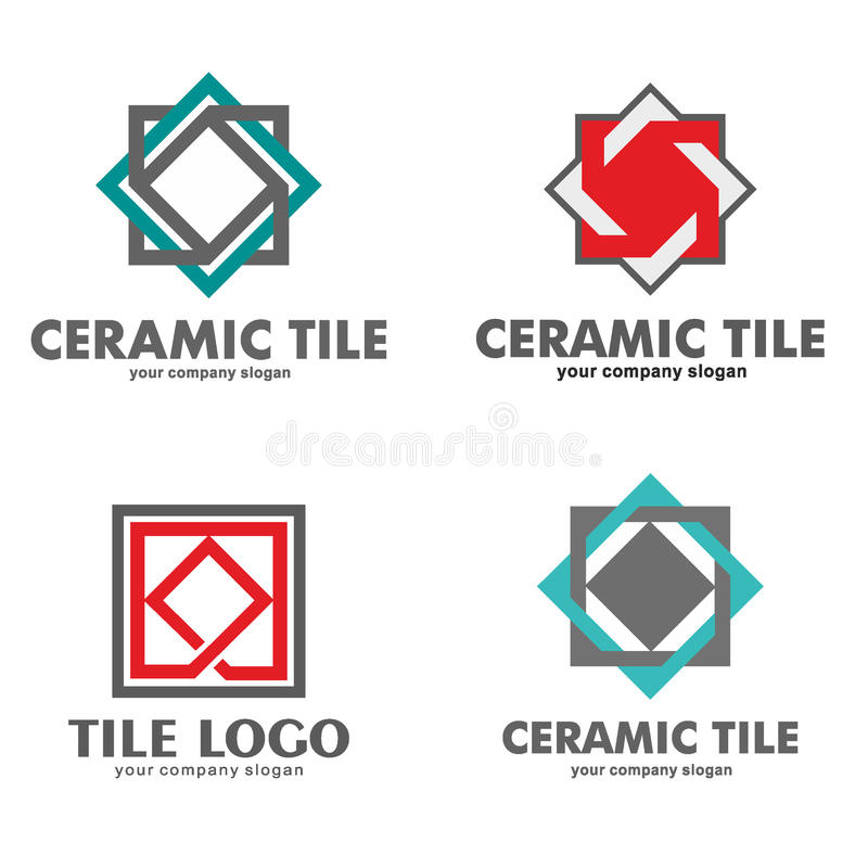 set of logos of ceramic tiles vector illustration stock vector rh dreamstime com tile login tile logo design