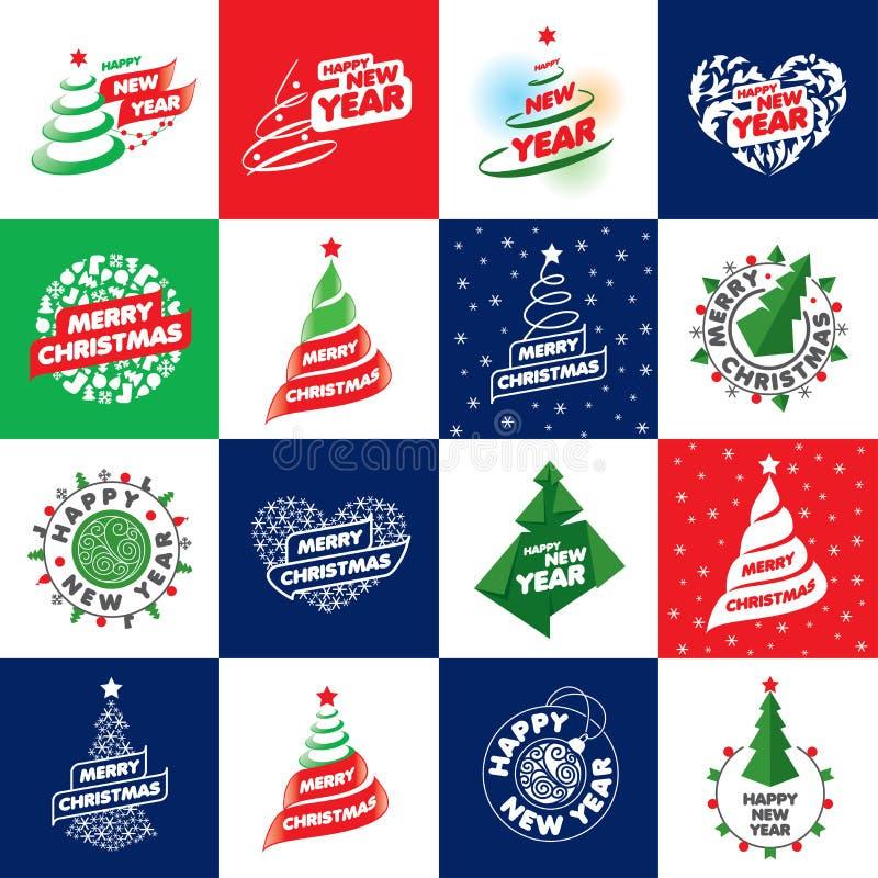 Set of logos for Christmas royalty free illustration