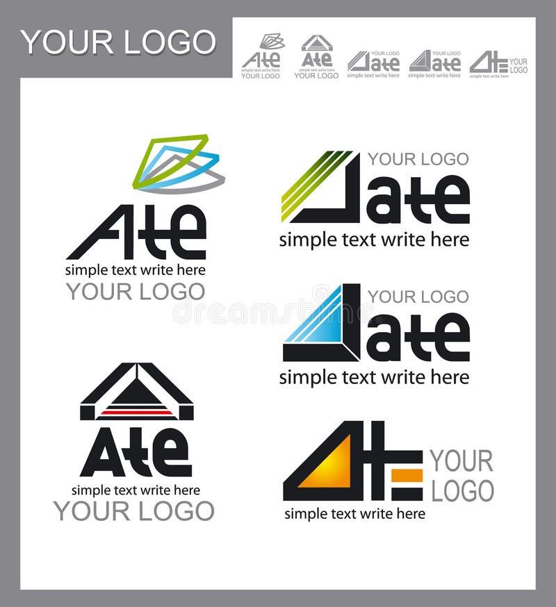 Set of logos, corporate design stock images