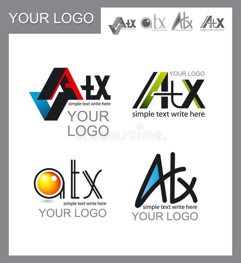 Set of logos, corporate design stock photo