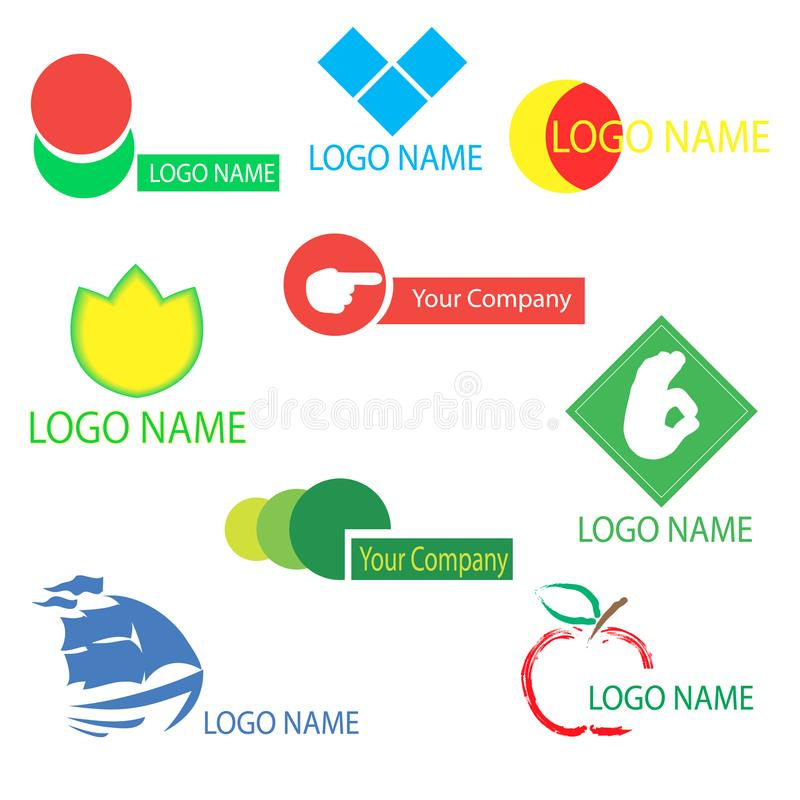 A set of logos for design royalty free stock photography