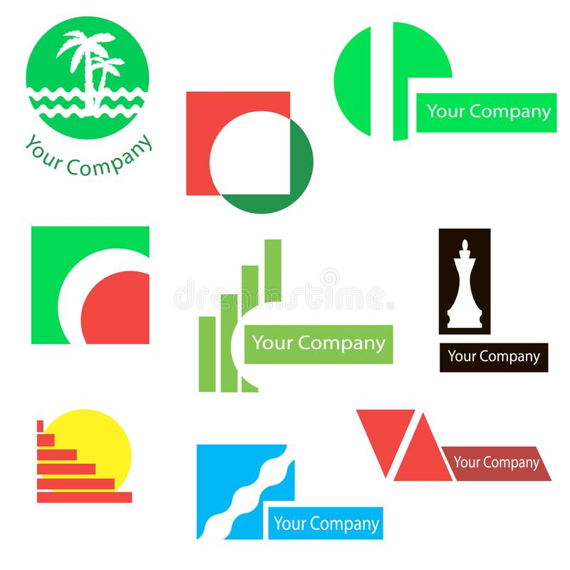 Set of logos for design stock images
