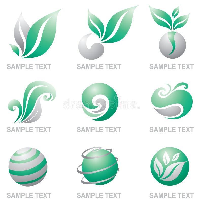 Set of logos of nature royalty free illustration