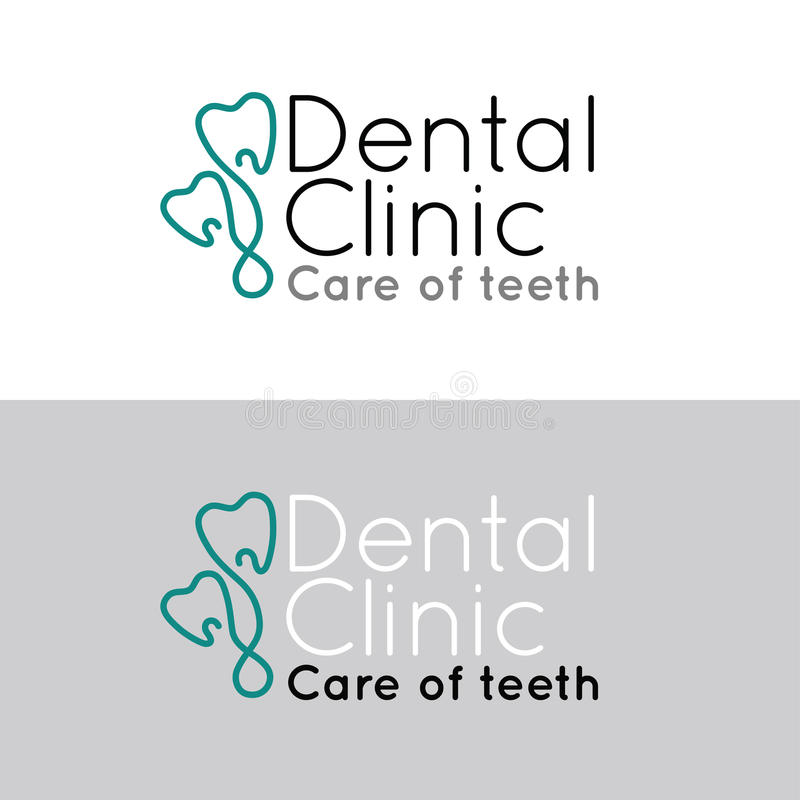 Set of logotype for dental clinic stock image