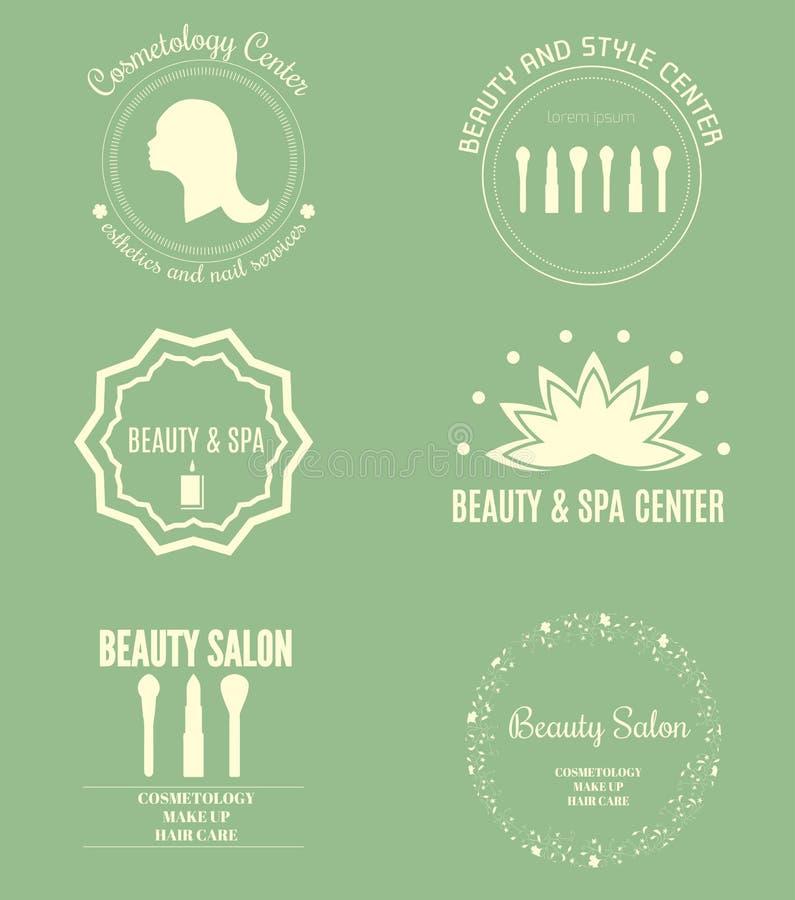 Set logotypy ilustracji