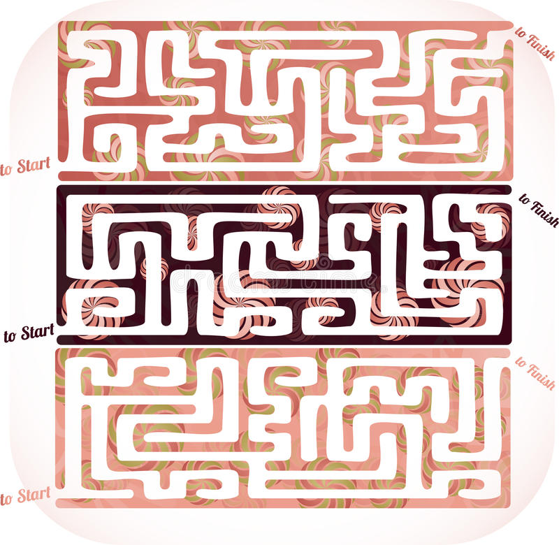 Set of lolipop maze vector illustration