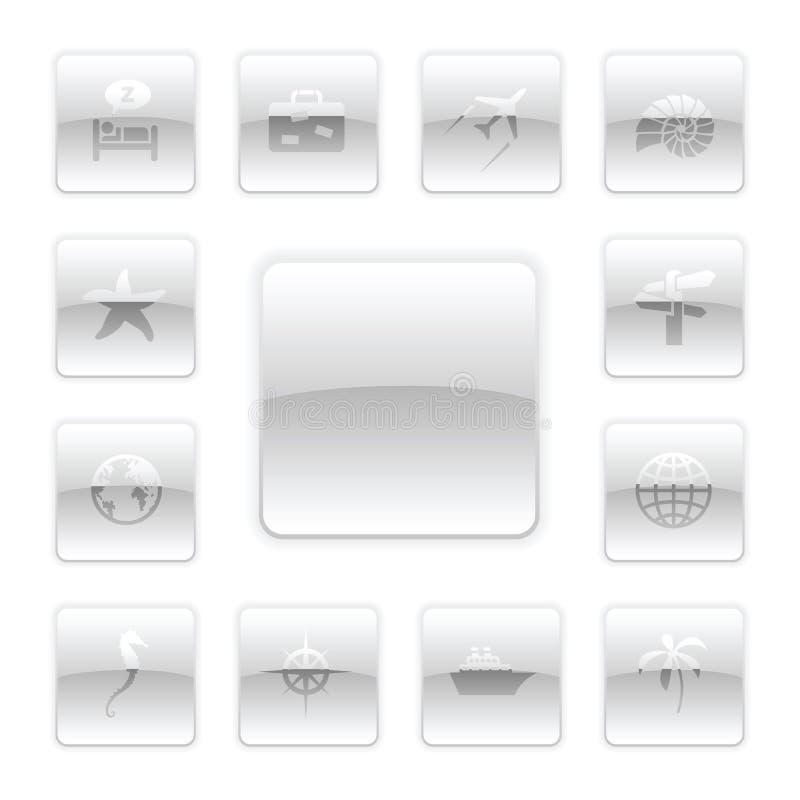 set loppvektor för symbol vektor illustrationer