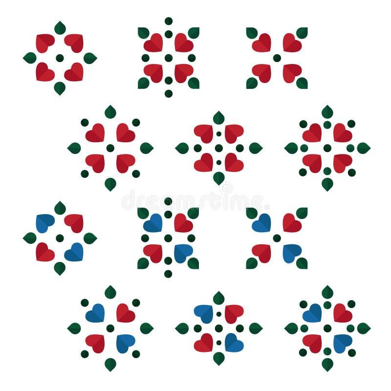 Set ludowi ornamenty ilustracja wektor