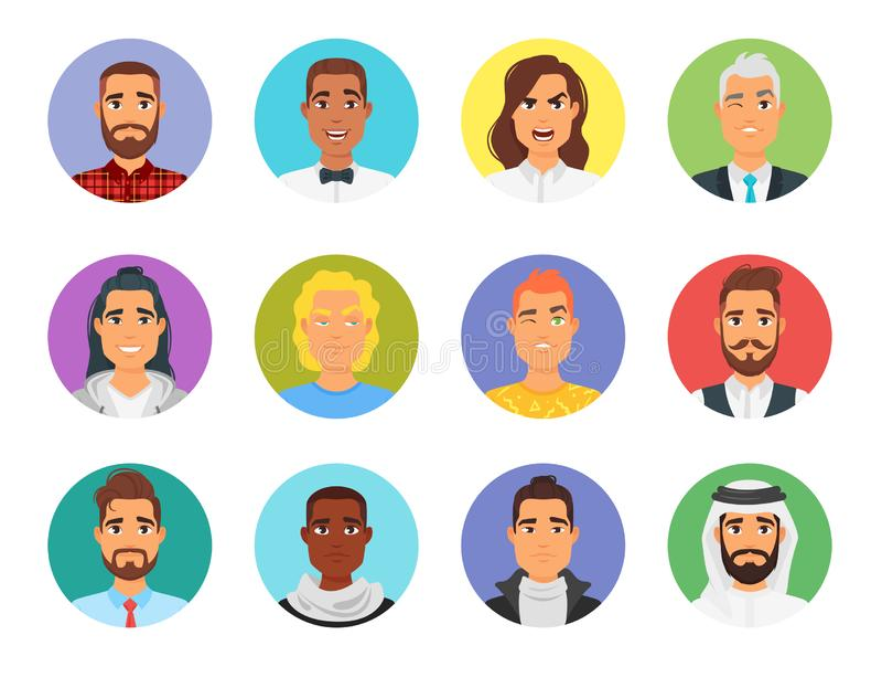 Set ludzie avatar ilustracja wektor
