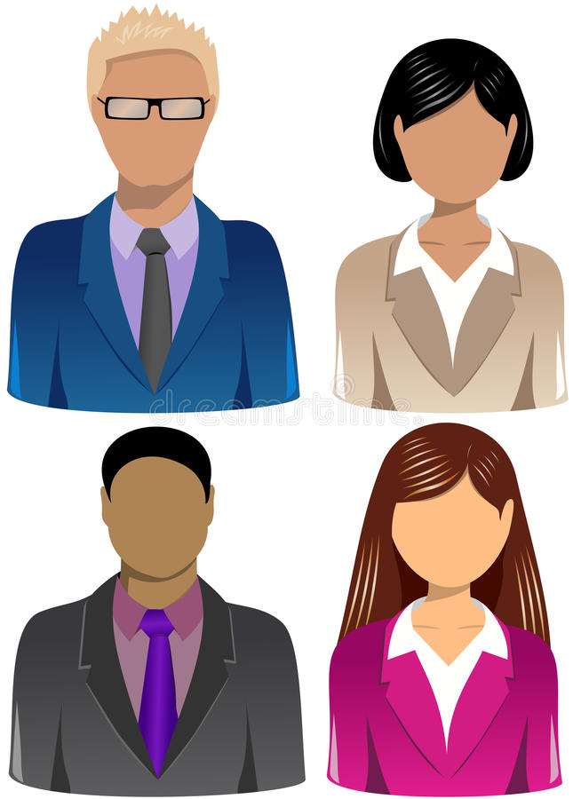 Set ludzie biznesu ikon [3] royalty ilustracja