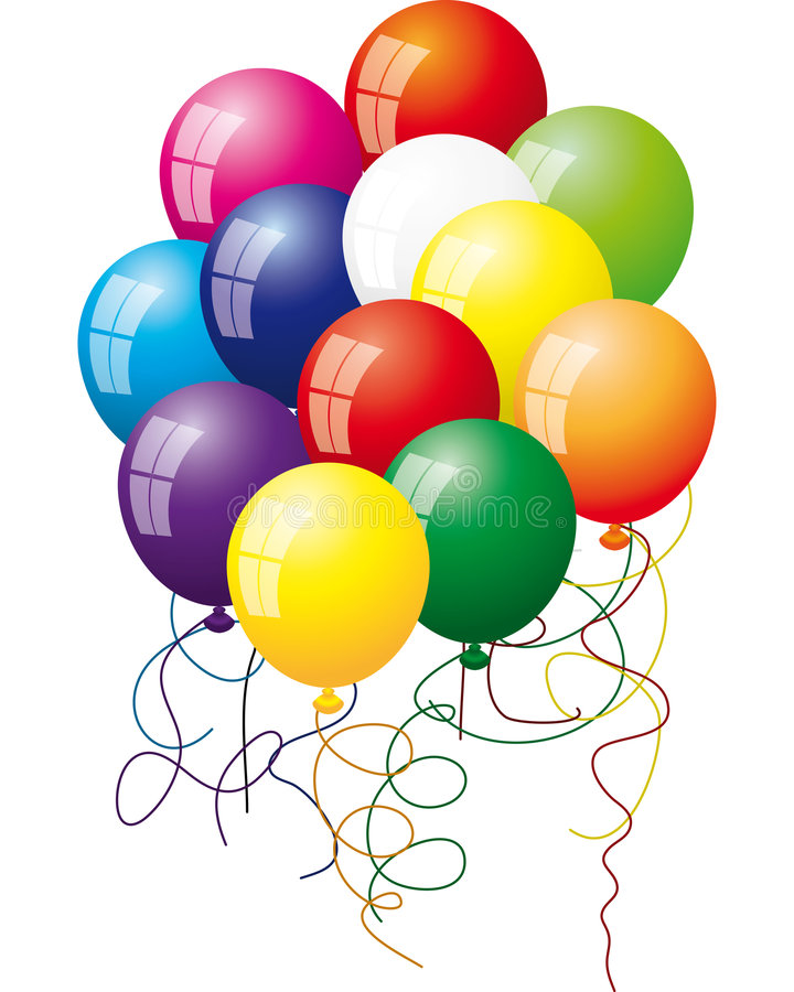 Set Luftballone lizenzfreie abbildung