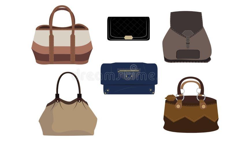 Set Luksusowa mody torebka royalty ilustracja
