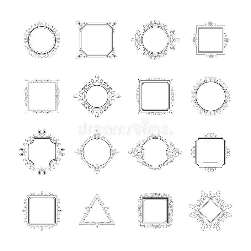 Beautiful Nature Logos Or Wedding Monograms Collection: Monogram Stock Vector. Illustration Of Design, Linear