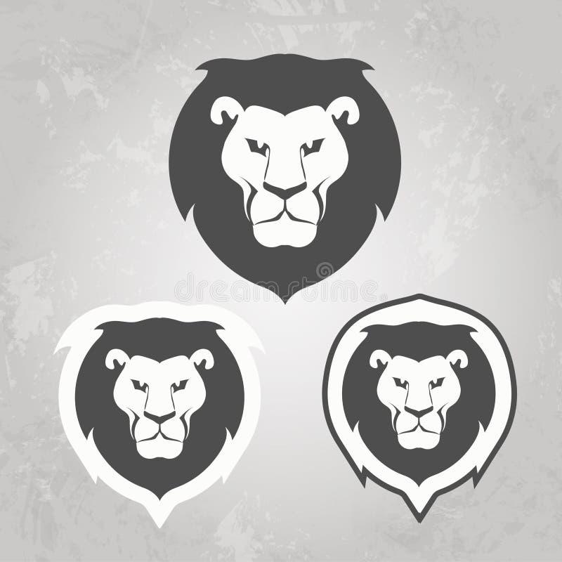 Set lwa loga szablony dla twój biznesu, ilustracja wektor