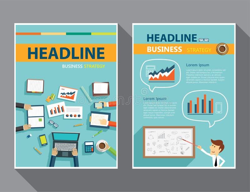 Set of magazine cover , flyer, brochure flat design templates royalty free illustration