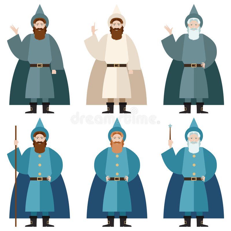Set of Mages stock illustration