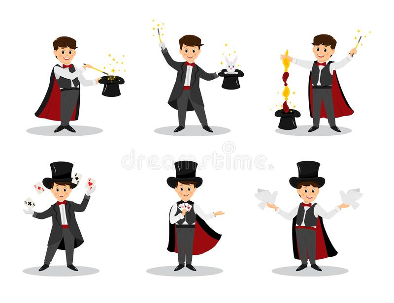 Set magicy ilustracja wektor