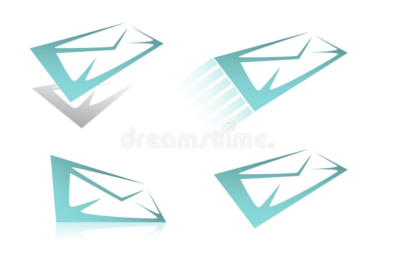 Set of mail icon. The set of mail icon. A vector. Without mesh vector illustration