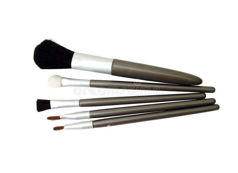 Set of make-up brushes stock photos