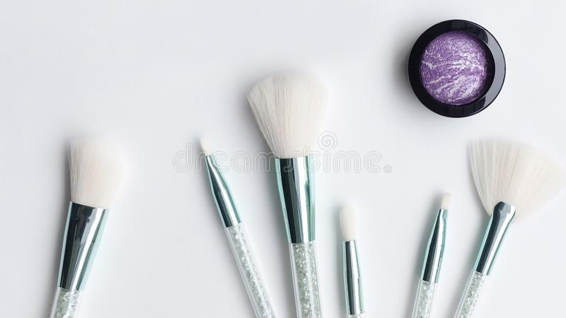 Collection of make up and cosmetic royalty free stock photo