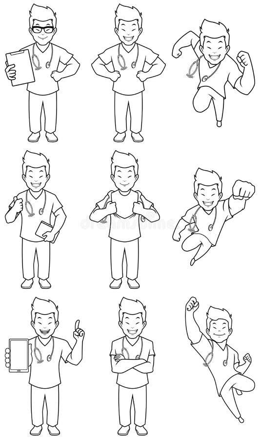 Nurse Coloring Stock Illustrations 178 Nurse Coloring Stock Illustrations Vectors Clipart Dreamstime