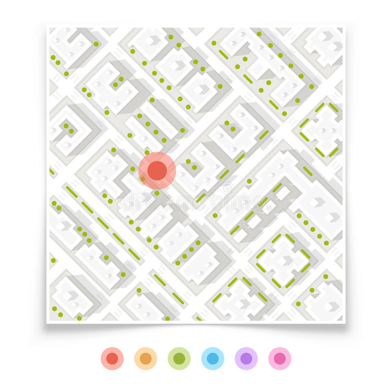 Set of map pointers. Art. Vector Illustration stock illustration