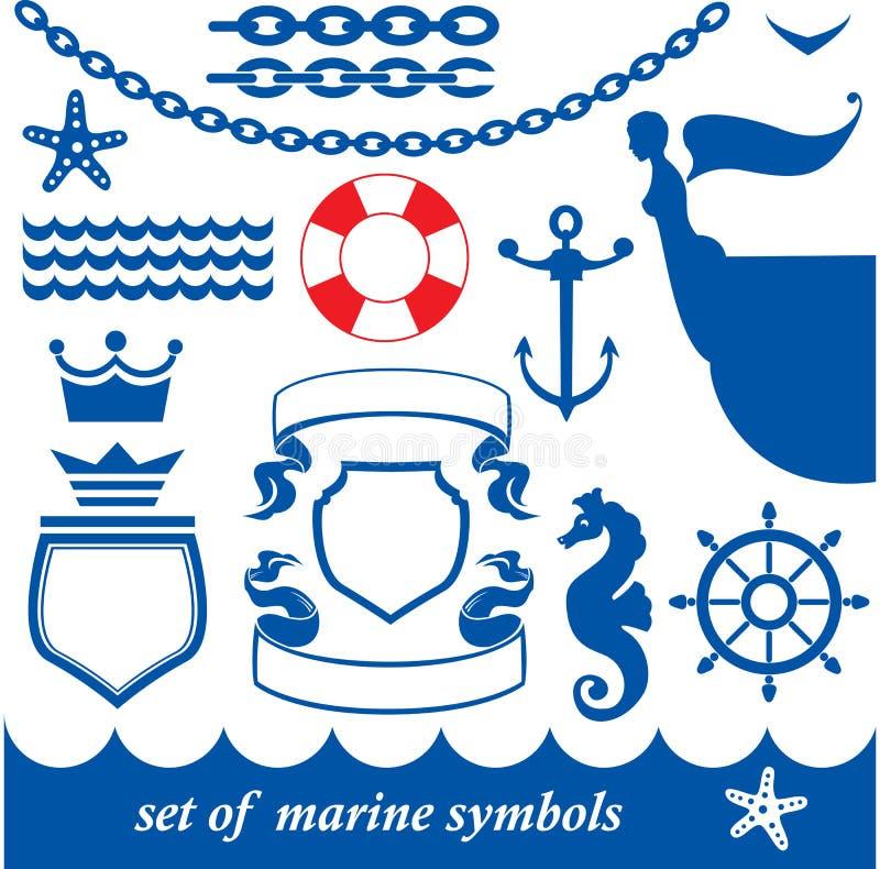 Download Set of marine elements stock vector. Image of meridian - 23551390