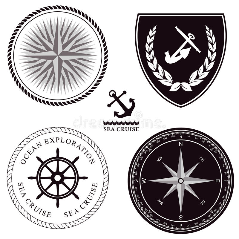 Download Set of maritime symbols stock vector. Illustration of maritime - 28968809