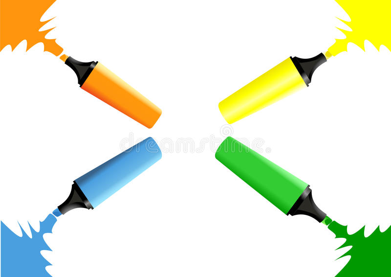 Set of markers stock illustration