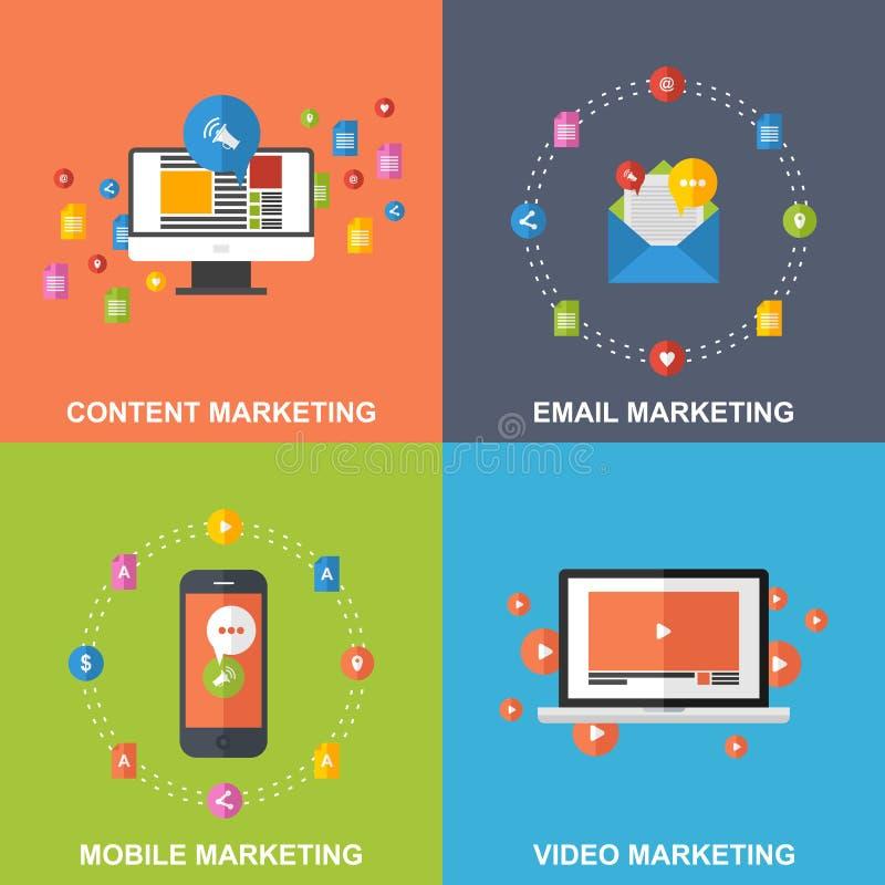 Set Marketingowi projektów pojęcia ilustracja wektor