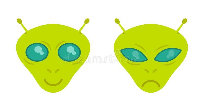Faces alien stock illustration