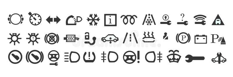 Set maszynowe ikony obraz royalty free