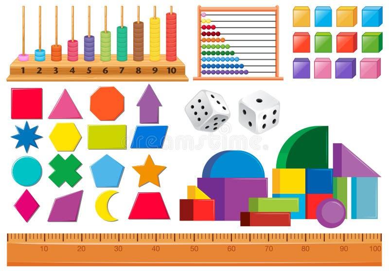 Set matematyka przedmiot ilustracja wektor