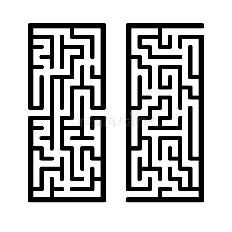 A set of mazes. Game for kids. Puzzle for children. Labyrinth conundrum. Find the right path. Vector illustration.  stock illustration