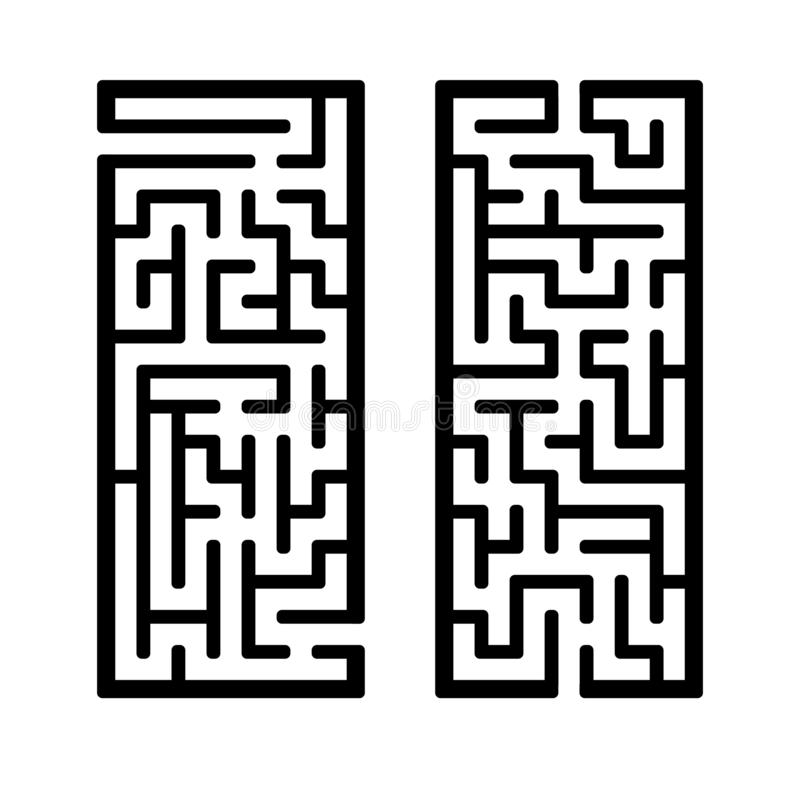 A set of mazes. Game for kids. Puzzle for children. Labyrinth conundrum. Find the right path. Vector illustration.  vector illustration